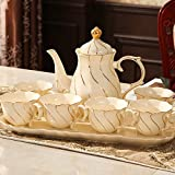 DHG Cup Set English Afternoon Tea Tea Set Cup Ceramic Cup Household Coffee Cup Set Continental Cup,B