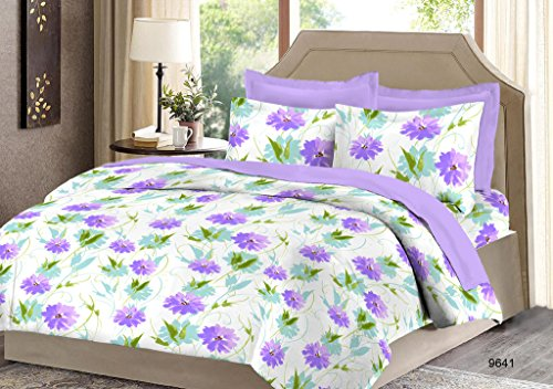 Bombay Dyeing 525B 164 TC Cotton Double Bedsheet with 2 Pillow Covers – Green