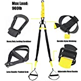 Resistance Bands crossfit-Full Body Workout Exercise Resistance Trainer – Includes Fitness Straps, Door Anchor and Carry Bag. Great For Strength Training, Gym, Home, and Crossfit (yellow) Review