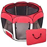 BestPet Pet Dog Cat Tent Playpen Exercise Play Pen Soft Crate Review