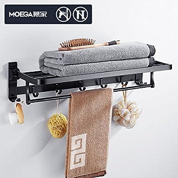 Estante para toallas juego de accesorios para el baño del estante de perforación de aluminio para el espacio para colgar europeo Mujia toallero: Amazon.es: ...