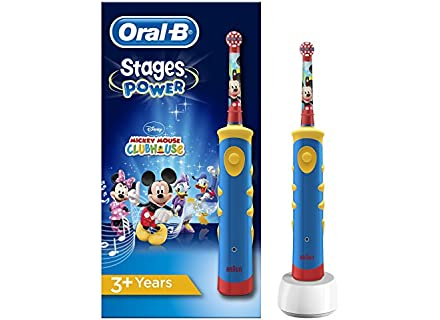 Oral-B Stages Power Spazzolino Elettrico, per Bambini, con Topolino di Disney