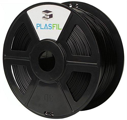 PLASFIL Black 3D Printer Filament, Vacuumed Sealed 1.75mm PLA PRO (PLA+) Printing Filament, 1KG Spool, +/- 0.03 mm Dimensional Accuracy, Low Odor (Orange Lamp Standard)