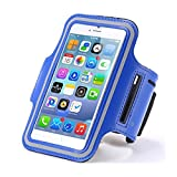 Hmily® Cell Phone Sports Armband For Running Walking Hiking Riding Bikes And Other Exercise Sports Activties Fits For Apple iPhone5 5S 5c 4 4S iPod Touch 5 and iPod Touch 6 (Blue)