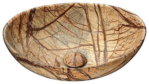 Ceramic Vessel Sink - Marbled Adobe - Sona Series LS-AZ277 -