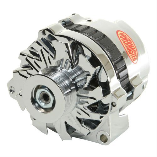 (Powermaster Performance 37861-360 Alternator (CS130 Satin 140A 6 Groove Pulley, Baffle & Cone Offset Left 1 Wire or OE Hookup))