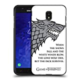 Official HBO Game of Thrones White Winds Graphics Black Soft Gel Case for Samsung Galaxy J7 (2018)