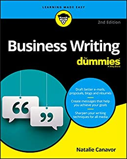 com business writing for dummies for dummies lifestyle  business writing for dummies for dummies lifestyle by canavor natalie
