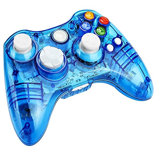 Kycola Xbox 360 Controller GC21 Wireless PC Gamepad LED Controller Transparent Joystick For Xbox...