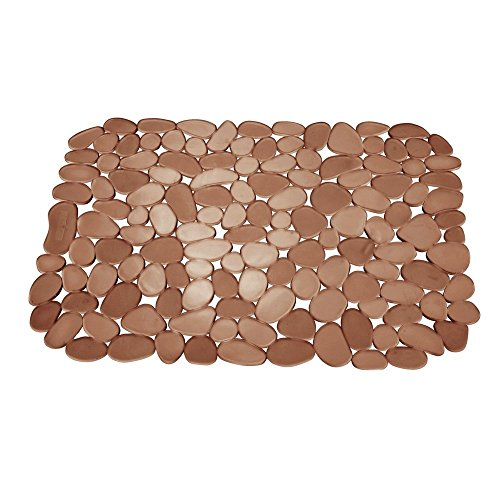InterDesign Pebblz Sink Large Sink Mat, Amber