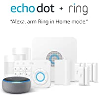5-Piece Ring Alarm Home Security System Kit + Echo Dot (3rd Gen) + Ring Alarm Motion Detector + 2-Pack Ring Alarm Contact Sensor