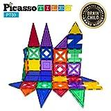 PicassoTiles 33 Piece Building Blocks 33pcs Educational Kit 3D Building Construction Toy Set Clear Magnetic Stacking Block STEM Playboard Magnet Felt Tiles Novelty Game, Creativity Beyond Imagination