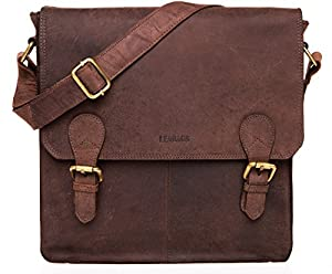 LEABAGS Toronto genuine buffalo leather shoulder bag in vintage style
