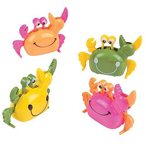 Fun Express Plastic Wind Up Summer Crab Party Favor Toys (1 Dozen) -