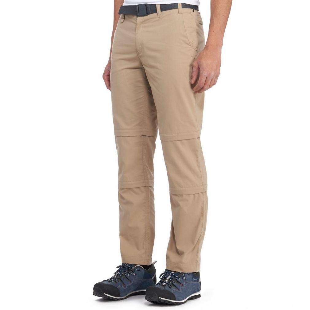 Brasher  Herren Double Zip Off Hose Outdoor Bekleidung Beige, Beige, 102cm