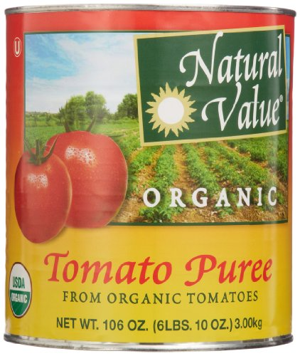 Natural Value Organic Tomato Puree, 106 Ounce (Pack of 6) by Natural Value