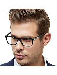 Men Fashion Rectangle Stylish Eyewear Frame with Clear...