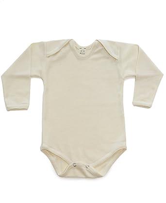 Amazon Com Hocosa Unisex Baby Organic Wool Silk Long Sleeve Onsie