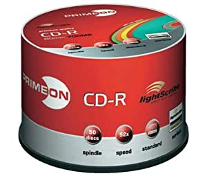 PRIMEON CD-R, LightScribe Version 1.2, Color, 50er Spindel