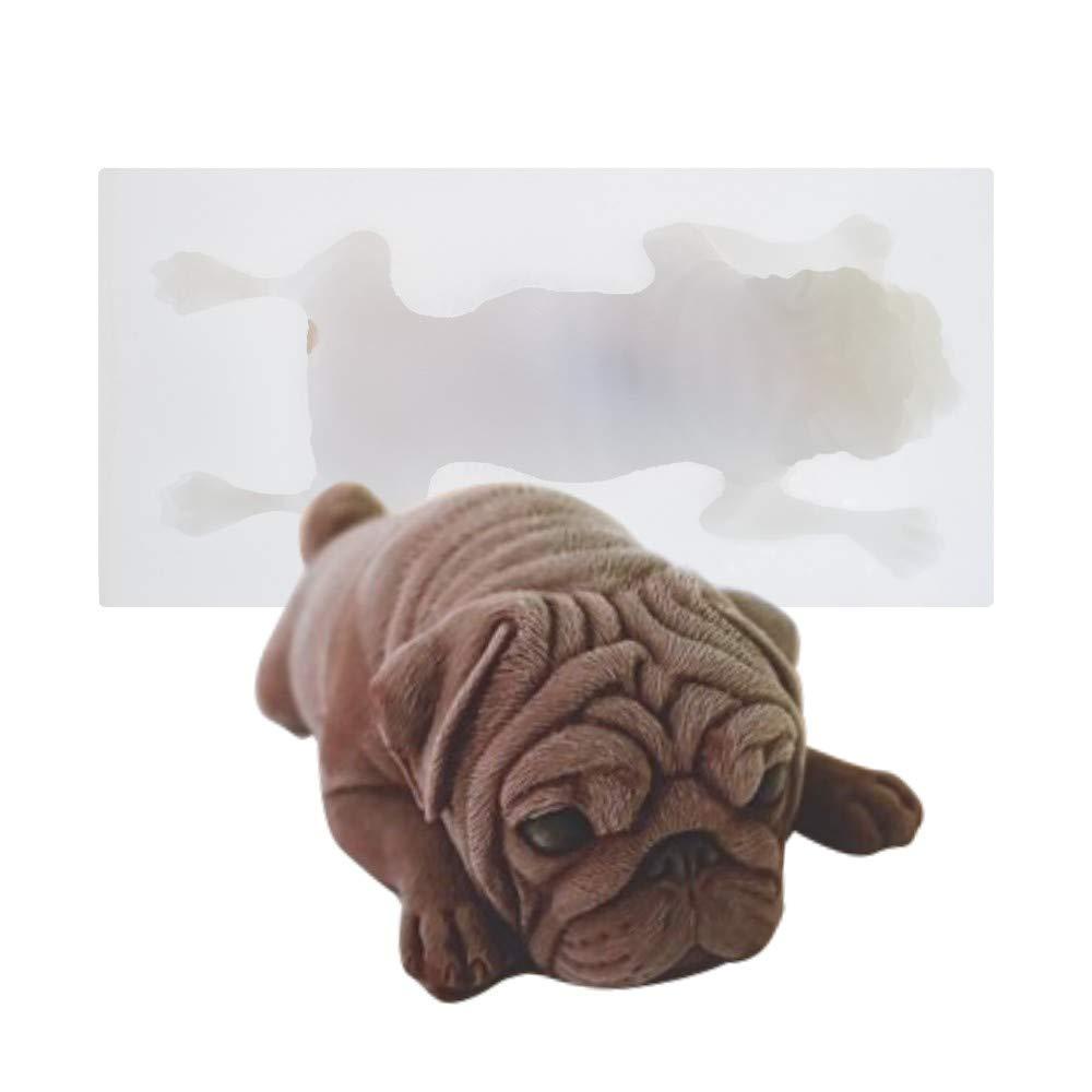 AK ART KITCHENWARE Pug Dog 3D Silicone Cake Mold Mousse Mould Fondant Tools Cake Decorating Tools Dessert Sweet SM-1172