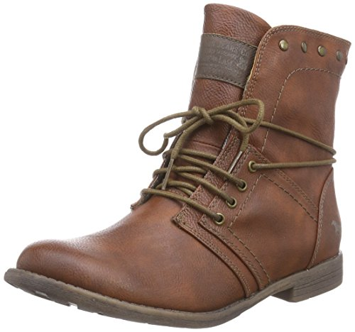 Brown Mustang Kastanie Schnür 301 Ankle Boots Women's booty 41qPfH