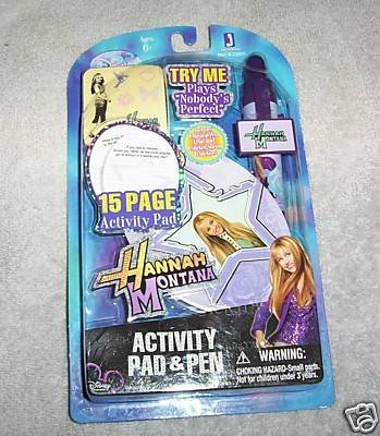 Disney Hannah Montana Activity Pad and Pen Set, Plays