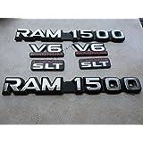 98-01 Dodge Ram 1500 V6 Magnum Laramie SLT Side Door 55295310 Logo 55076569 Emblem 55274860AB Namepl