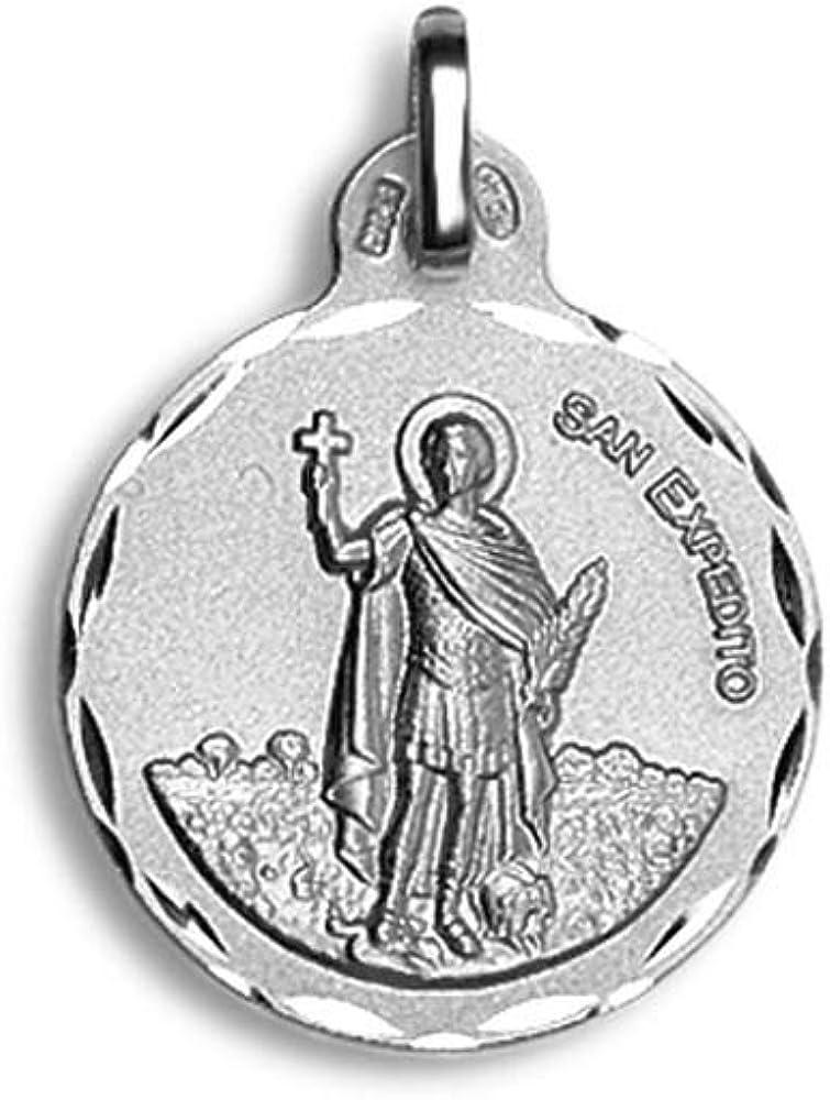 Casa de la Medalla - Medalla Redonda San Expedito 21 mm. Plata de Ley 925 milésimas: Amazon.es: Ropa y accesorios