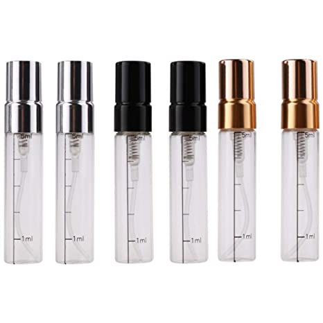Amazon.com: JUZEN 5ml Glass Perfume Empty Bottle, Scaled ...
