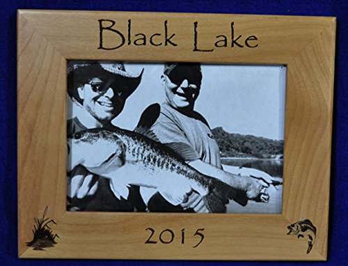 (Fishing Picture Frame | Fishing Gifts | Fishing Memories | Engraved Fishing Frames | Fisherman Gift | Cottage Decor | Custom Picture Frame)