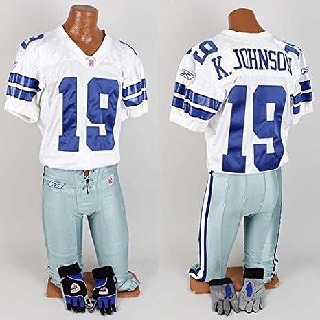 af8f1e8c8e8 2005 Keyshawn Johnson Game-Worn Uniform Cowboys - COA Mears - NFL ...