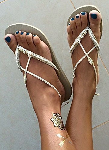 Amazon Com Boho Women S Sandals Wedding Bridal Hippie Beaded