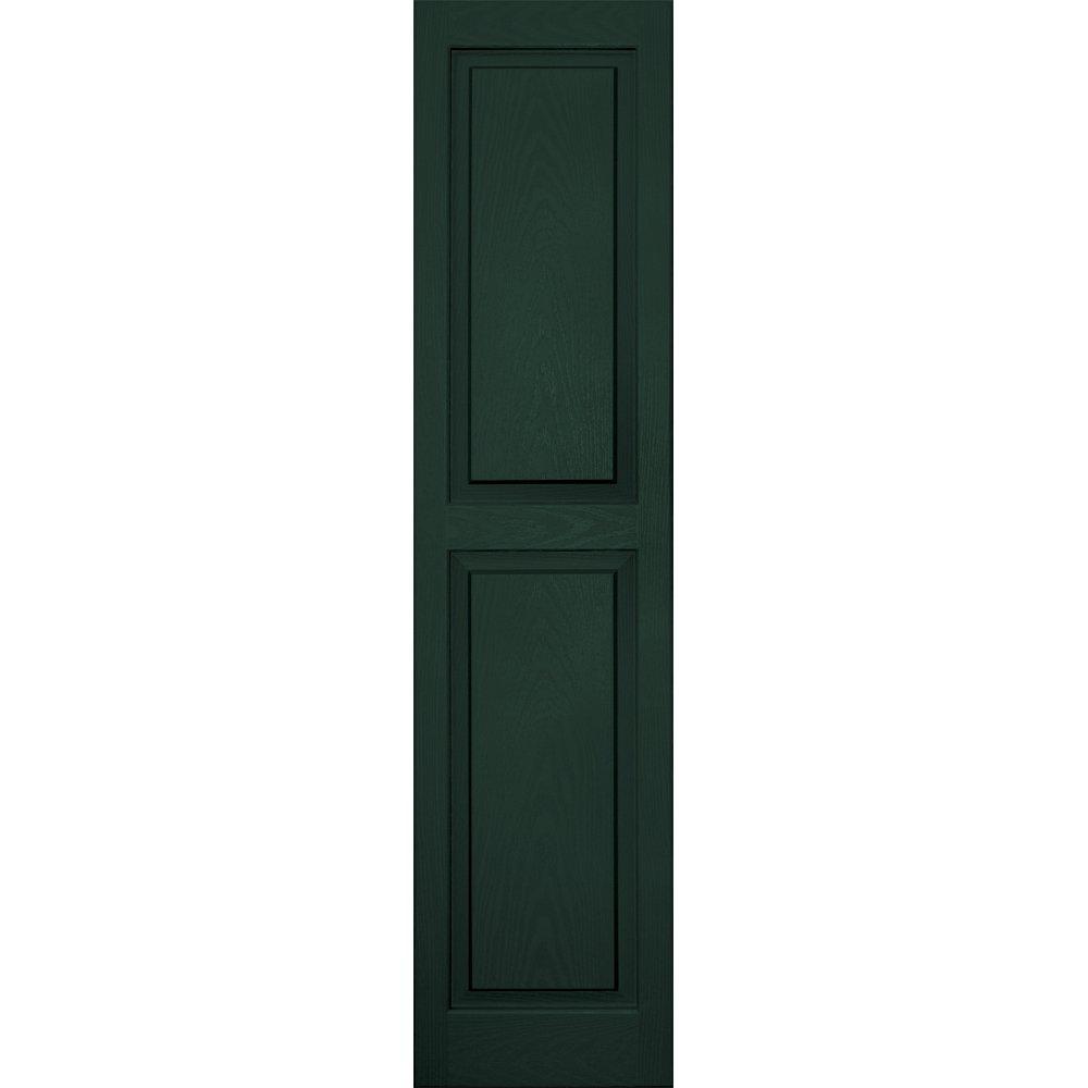 Vantage 3114059991 14X59 Raised Panel Shutter/Pair 991, Midnight Green