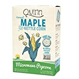Quinn Popcorn Microwave Popcorn - Made with Organic Non-GMO Corn - Great Snack Food for Movie Night {Maple Kettle Corn, 3 Boxes}