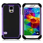 Galaxy S5 Case NO5CASE Shockproof Dual Layer Protection Case for Samsung Galaxy S5 purple