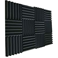 "12 Pack Acoustic Foam Panels 2"" X 12"" X 12"" Soundproofing Studio Foam Wedge Tiles Fireproof - - Ideal for Home & Studio…"