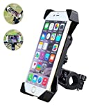 MOCREO®Bicycle Phone Holder Pouch, Compatible w/ 3.5 to 7.0 inch Screen Cell Phone w/ Thickness Less Than 10.5mm/GPS Holder, Cell Phone Holder for Bike/Motorcycle/ Mountain bike/ Cycling/Sports, Adjustable Handlebar iPhone Mount, Antiskid & Shake Proof, Best Gifts; Bike mount holder for iPhone 6/5s/5c, iPod, Samsung galaxy, HTC(black)