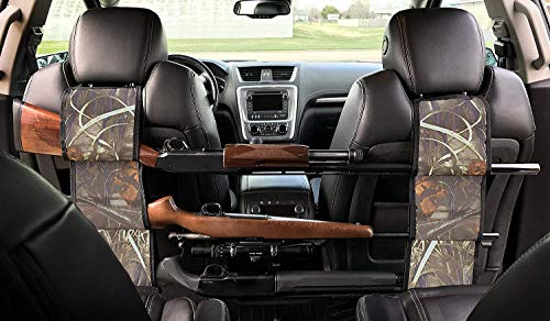 Concealed Seat Back Gun Rack Sling Pair - Storage Organizer for 3 Hunting Rifles/Shotguns in Car, Truck, SUV