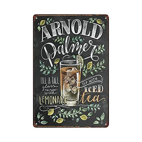 WallDector Lemonade Iron Poster Painting Tin Sign Vintage Wall Decor for Cafe Bar Pub Home Beer Decoration Crafts ()