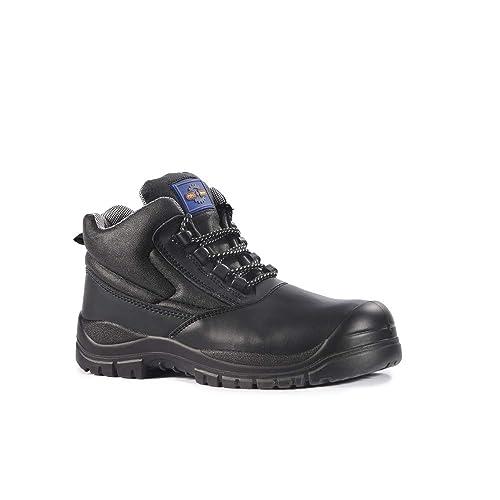 7fff0682f9 Pro Man PM600 S3 Black Composite Toe Cap Safety Boots Bump Cap Work ...