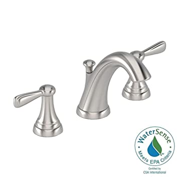 Marquette 8 In. Widespread 2 Handle Mid Arc Bathroom Faucet In Satin Nickel
