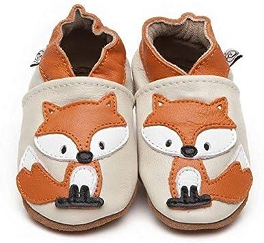 Suaves Zapatos De Cuero Del Bebé Zorro 6-12 meses
