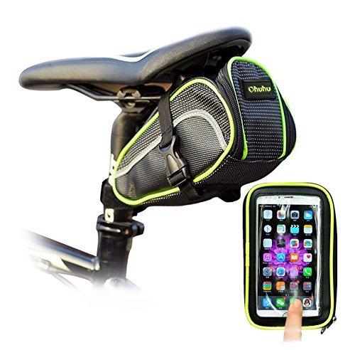 Ohuhu Mochila A Prueba de Agua para Asiento de Bicicleta con Estuche para Teléfono Celular product