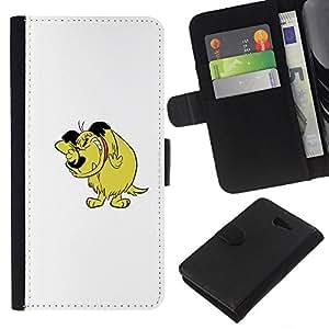 All Phone Most Case / Oferta Especial Cáscara Funda de cuero Monedero Cubierta de proteccion Caso / Wallet Case for Sony Xperia M2 // Dog Cartoon Comic Character Drawing Art