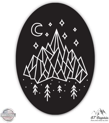 Vinyl Sticker Waterproof Decal Forest Mountains Adventure