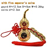 ZAMTAC Chinese Feng Shui Decorating Tai Chi Wu Lou Hu Lu Miniaturas Copper Alloy Gourd Amulet Home Decoration Accessories Vintage30pcs - (Color: YeAlloyGourdL30pcs)