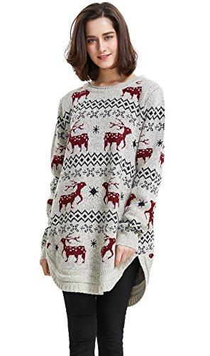 Reindeer Snowflake Christmas Sweater