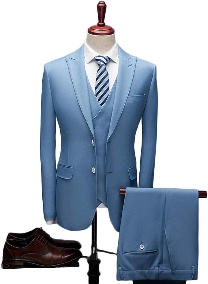 Amazon.com: TOPG 3 piezas gris traje de hombre traje de boda ...