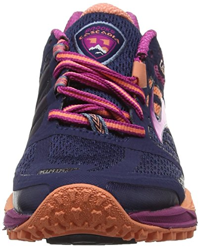 Trail Zapatillas Running Peacoat Fusioncoral de 11 Mujer Brooks Azul 451 Batonrouge para Cascadia nqpEFwCxI