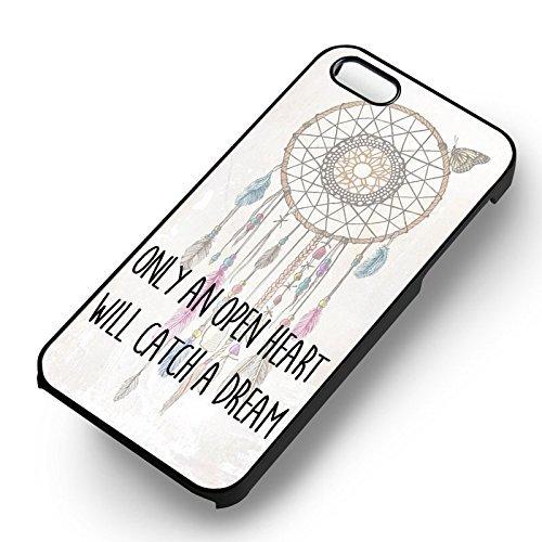 Dream Catcher Quotes pour Coque Iphone 6 et Coque Iphone 6s Case (Noir Boîtier en plastique dur) X6T5MG